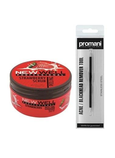 New Well Newwell Çilek Yüz Peelingi 250 Ml+Promani Akne Sivilce Temizleme Aparatı Renksiz